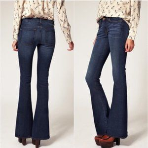 JBrand Martini Mid Rise Flared Jeans in Pure @